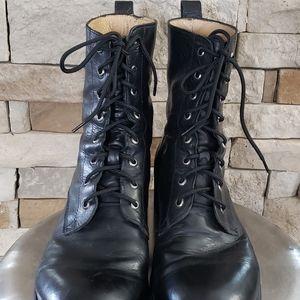 FRYE BOWERY  VINTAGE Black Boots sz 11 D